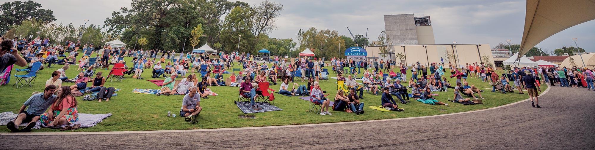 Momentary festival crowd